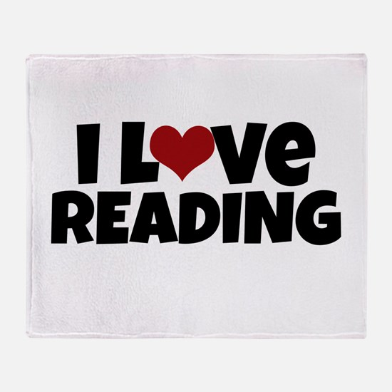 I Love Reading Throw Blanket