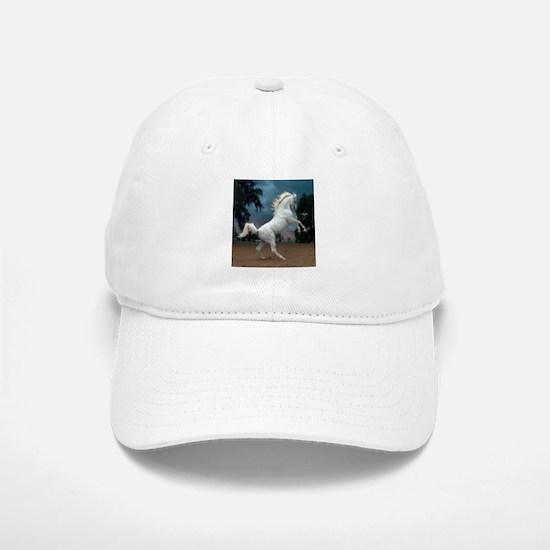 The White Stallion Baseball Baseball Cap