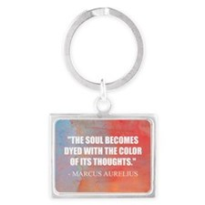 The Soul Becomes Dyed | Landscape Keychain