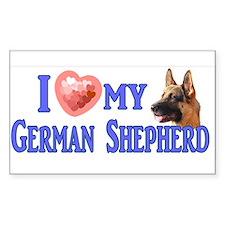 I love my German Shepherd 4 Decal