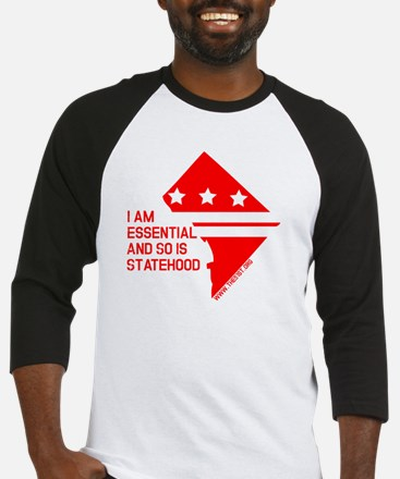 I AM ESSENTIAL-RED Baseball Jersey