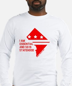 I AM ESSENTIAL-RED Long Sleeve T-Shirt