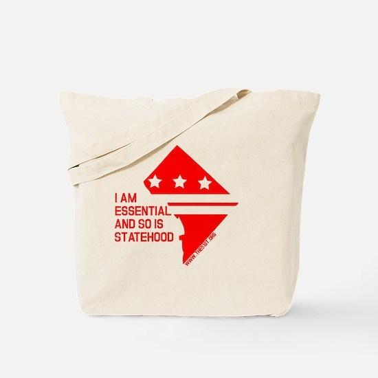 I AM ESSENTIAL-RED Tote Bag