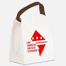 I AM ESSENTIAL-RED Canvas Lunch Bag