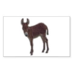 donkey baby Rectangle Decal