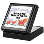 1971 Year Of The Pig Keepsake Box
