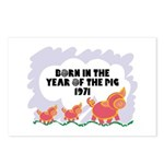 1971 Year Of The Pig Postcards (Package of 8)