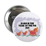 1971 Year Of The Pig Button