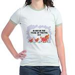 1971 Year Of The Pig Jr. Ringer T-Shirt