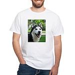 Husky White T-Shirt