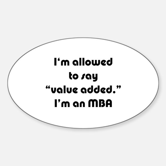 Value Added MBA Oval Decal