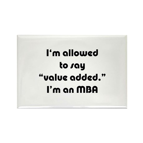 Value Added MBA Rectangle Magnet (10 pack)