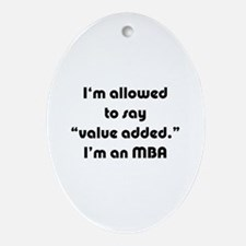 Value Added MBA Oval Ornament