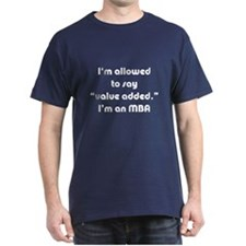 Value Added MBA Navy Blue T-Shirt