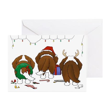St. Bernard Christmas Greeting Cards (Pk of 10)