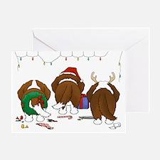 St. Bernard Christmas Greeting Card