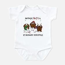 St. Bernard Christmas Infant Bodysuit