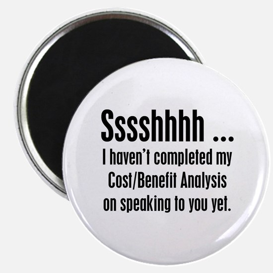 """Cost Benefit Analysis 2.25"""" Magnet (10 pack)"""