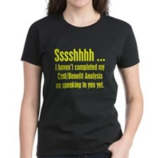 Cost Benefit Analysis Women's Black T-Shirt