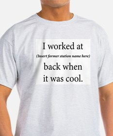I worked at ____ Ash Grey T-Shirt