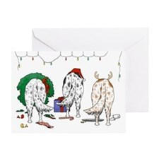 English Setter Christmas Greeting Card