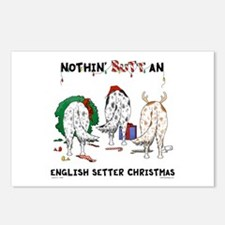 English Setter Christmas Postcards (Package of 8)