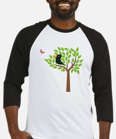 Crow In A Tree Baseball Jersey