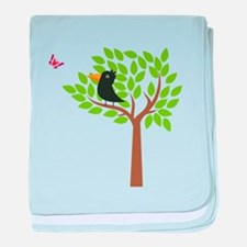 Crow In A Tree baby blanket