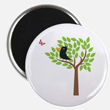 """Crow In A Tree 2.25"""" Magnet (10 pack)"""