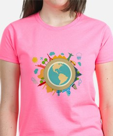 World Travel Landmarks Tee