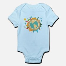 World Travel Landmarks Infant Bodysuit