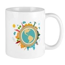 World Travel Landmarks Mug