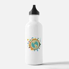 World Travel Landmarks Water Bottle