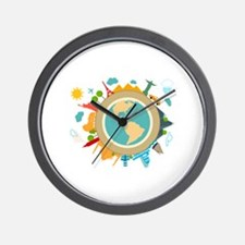 World Travel Landmarks Wall Clock