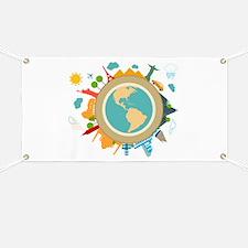 World Travel Landmarks Banner