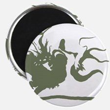 Wolf and dragon Magnet
