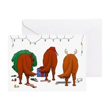 Irish Setter Christmas Greeting Card