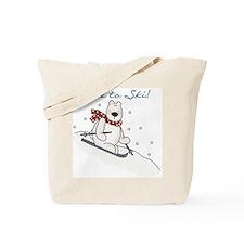 Polar Bear Ski Tote Bag