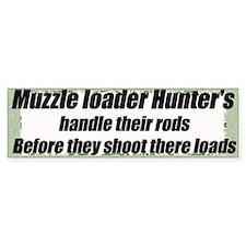 Muzzel loader humor sticker