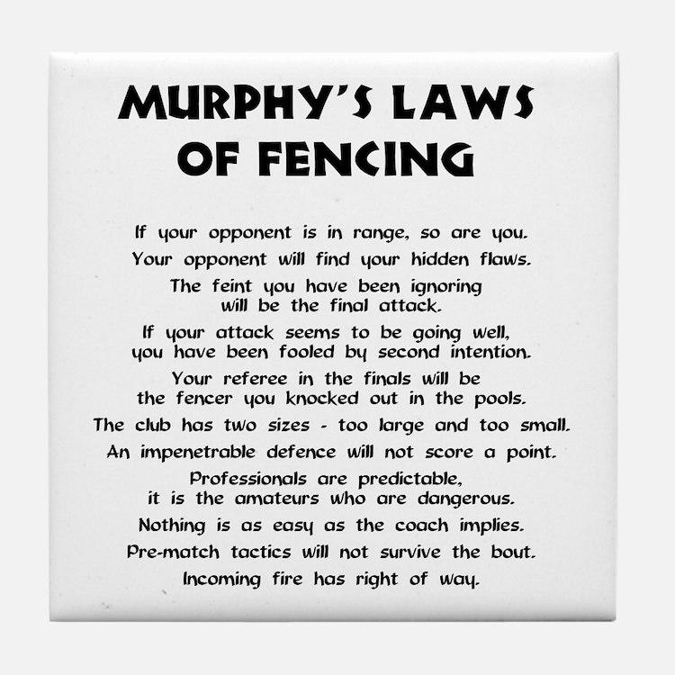 Murphy's Law -  Tile Coaster