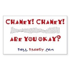 Chaney! Chaney! Rectangle Decal