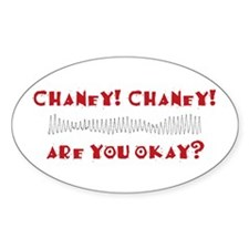 Chaney! Chaney! Oval Decal