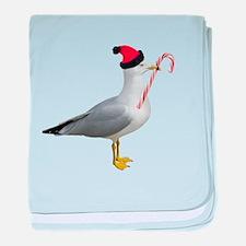 Santa Seagull baby blanket