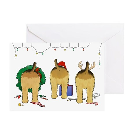 Nothin' Butt An Airedale Xmas Greeting Cards-20 Pk