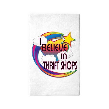 I Believe In Thrift Shops Cute Believer Design 3'x