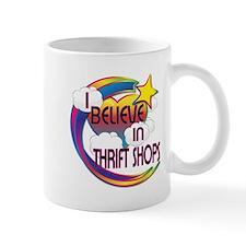 I Believe In Thrift Shops Cute Believer Design Mug