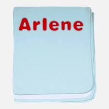 Arlene Santa Fur baby blanket