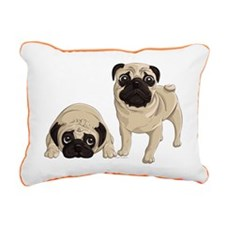 Pugs Rectangular Canvas Pillow
