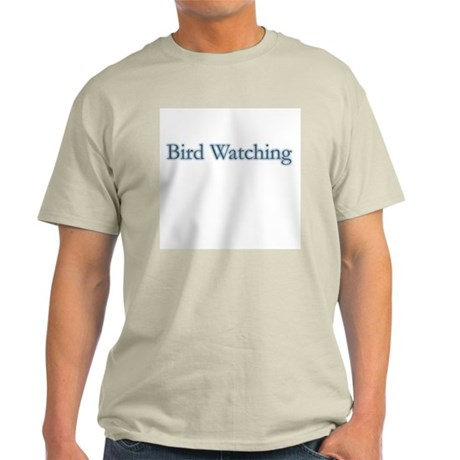 Bird Watching - text Ash Grey T-Shirt