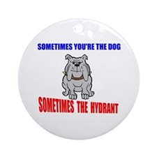 DOG OR HYDRANT Ornament (Round)